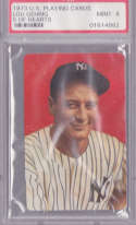 Lou Gehrig 1973 U.S. Playing Cards 5 of Hearts 242 Graded