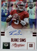 2015 Panini Prestige Rookies Extra Points Signatures Red #209 Blake Sims MINT r Auto