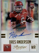 2015 Panini Prestige Rookies Extra Points Signatures Gold #234 Dres Anderson MINT r Auto /50