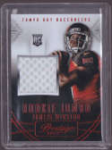 2015 Panini Prestige Rookie Jumbo Patches #1 Jameis Winston MINT x4 MEM