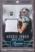2015 Panini Prestige Rookie Jumbo Patches Extra Points Platinum #14 Bryce Petty MINT x4 MEM /25