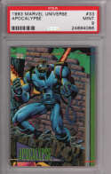 Apocalypse 1993 Marvel Universe Impel 33 Graded PSA 9 MINT MARVEL X-MEN Collectible Trading Card POP 1