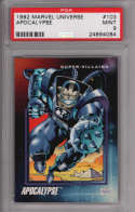 Apocalypse 1992 Marvel Universe Impel 103 Graded PSA 9 MINT MARVEL X-MEN Collectible Trading Card POP 1