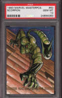 Scorpion 1993 Marvel Masterpieces 63 Graded PSA 10 GEM MINT MARVEL X-MEN Collectible Trading Card POP 1
