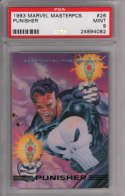 Punisher 1993 Marvel Masterpieces 26 Graded PSA 9 MINT MARVEL X-MEN Collectible Trading Card POP 1