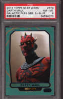 Darth Maul 2014 Topps Star Wars Galactic Files  579 Graded PSA 8 NM-MT Blue Foil SP Collectible Trading Card POP 1