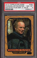 Chancellor Palpatine 2016 Topps Star Wars Galactic Files  380 Graded PSA 8 NM-MT Blue Foil SP Collectible Trading Card P