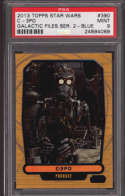 C-3PO 2018 Topps Star Wars Galactic Files  390 Graded PSA 9 MINT Blue Foil SP Collectible Trading Card POP 1