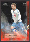 2015 Topps APEX MLS Orange Autographs #49 Jack McInerney NM-MT Auto /25