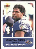 Jonathan Ogden 2002 Fleer Tradition Tiffany /225 79 Baltimore Ravens