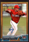 2015 Topps Pro Debut Gold Autographs #133 Stephen Perez NM-MT+ Auto /50