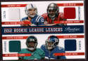 2013 Panini Prestige Rookie League Leaders Quad Materials #5 Andrew Luck/David Wilson/Doug Martin/Justin Blackmon NM-MT+