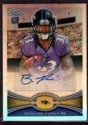2012 Topps Chrome Rookie Autographs Refractors Variations #213 Bernard Pierce NM-MT+ Auto
