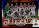 2014 Panini World Cup Prizm Team Photos Blue and Red Blue Wave Prizms #15 Deutschland NM-MT+