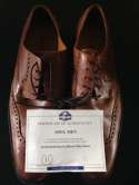 Bernie Mac Soul Men (2008) Floyd Hendersons Shoes Movie Prop COA Premiere Props Cole Han Brown Dress Shoes Authentic Pro