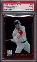 Mark McGwire 1998 Donruss Elite Aspirations Red #13 SP /750 Graded PSA 9 Low pop