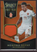 2015 Panini Select First Team Swatches Orange #29 Memphis Depay Mint Jersey /149
