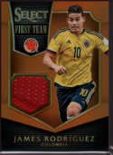 2015 Panini Select First Team Swatches Orange #11 James Rodriguez Mint Jersey /149