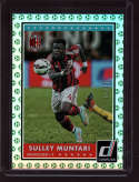 2015 Donruss Green Soccer Ball #13 Sulley Muntari Mint /25