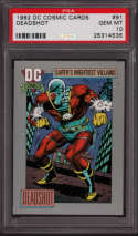Deadshot DC Cosmic Cards PSA 10 Gem Mint 1992 #91 POP2 Suicide Squad Will Smith