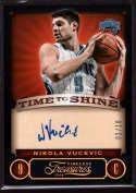 2013-14 Panini Timeless Treasures Time to Shine Gold #7 Nikola Vucevic Mint Auto /10