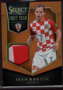 2015 Panini Select First Team Swatches Orange #13 Ivan Rakitic Mint Jersey /149