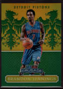 2014-15 Panini Excalibur Crusade Green #55 Brandon Jennings Mint /5