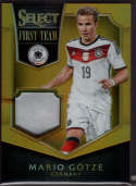 2015 Panini Select First Team Swatches Prime Gold #17 Mario Gotze Mint Jersey /10