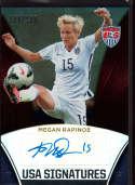 2015 Panini US National Team USA Signatures #17 Megan Rapinoe Mint Auto /199