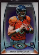 2012 Topps Platinum Rookie Purple Refractors #101 Brock Osweiler Mint RC Rookie /75