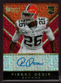 2014 Panini Select Rookie Autograph Red Mojo #55 Pierre Desir Mint RC Rookie Auto /15