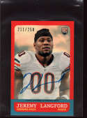 2015 Topps 1963 Mini Rookie Autographs #63a-jl Jeremy Langford #d Mint Auto