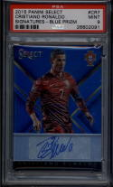 2015 Panini Select Select Signatures Blue #7 Cristiano Ronaldo Mint Auto 10/15