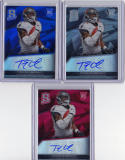 TIMOTHY TIM WRIGHT 2013 SPECTRA ROOKIE AUTO RAINBOW RED /25 BLUE /99 PATRIOTS  a