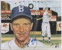 ANDY PAFKO 8X10 PHOTO CARDSTOCK AUTOGRAPH #16 of 36 AUTO *BROOKLYN DODGERS* a