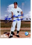 JOHNNY BLANCHARD 8X10 COLOR AUTOGRAPH PHOTO AUTO YANKEES - OUTFIELDER/CATCHER a