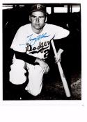 TOMMY HOLMES 8X10 B/W AUTOGRAPH PHOTO AUTO *BROOKLYN DODGERS - OUTFIELDER* a