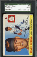 BILLY O'DELL 1955 TOPPS #57 AUTOGRAPH AUTO SGC A AUTHENTIC *BALTIMORE ORIOLES* s