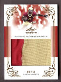 AARON MELLETTE 2013 LEAF TRINITY JUMBO 2 COLOR JERSEY PATCH SP #06/60 *ELON* s